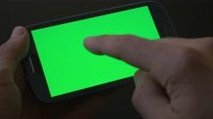 4K Smartphone Green Screen Gestures Finger Stock Footage