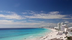 Cancun beach panorama view Stock Footage