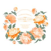 Luxurious vintage frame. - stock illustration