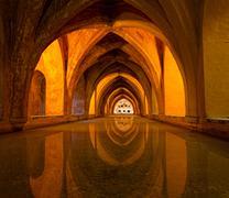 Bath in alcazar, seville, spain Stock Photos