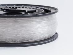 Filament for 3d printer clear against a light background Stock Photos