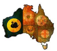 western australia on map of australia - stock illustration
