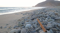 Motion Controlled Dolly In Time Lapse of Malibu Beach at Sunset -Zoom In- - stock footage