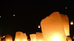 Yii Peng Festival Lanterns Stock Footage