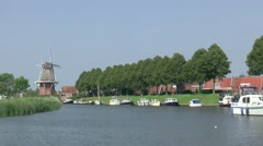 Watersports in the city of Dokkum in the province of Friesland Stock Footage