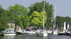 Watersports in the city of Dokkum in the province of Friesland - stock footage