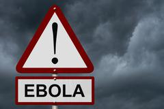 Ebola caution sign Stock Photos