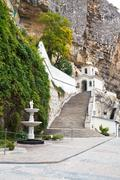 View of assumption monastery of the caves, crimea Stock Photos