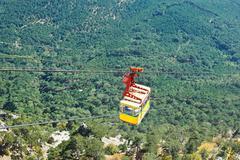 Cableway miskhor - ai-petri over crimean mountains Stock Photos