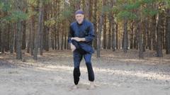 Rem Plugatar.Master of wushu,wu hsing from Ukraine Stock Footage