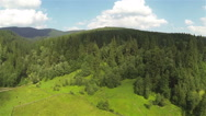 Stock Video Footage of Panorama of  beautiful  small mountain district. Aerial