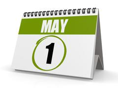 May 1  labour day Stock Illustration