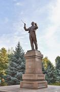 monument to the composer and conductor nurgisa tlendiev. almaty, kazakhstan - stock photo