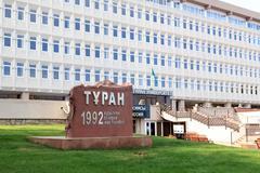 turan university almaty, kazakhstan - stock photo