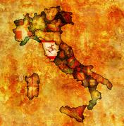 Stock Illustration of map of italy with tuscany region