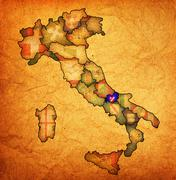 Stock Illustration of map of italy with molise region