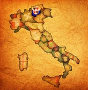 Stock Illustration of map of italy with south tyrol region