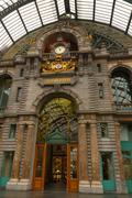 Antwerp Central Railway Station - stock photo