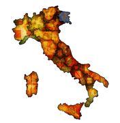 Map of italy with venezia region Stock Illustration