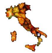 map of italy with basilicata region - stock illustration