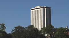 Tallahassee, Florida Capitol Bldg. ZO to WS, Cascades Park Stock Footage