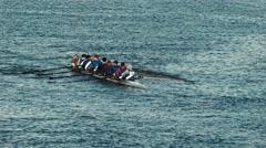 Men on kayak athletes Stock Footage