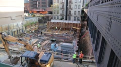 Construction Site in Manhattan New York City Stock Video Stock Footage