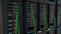 Super computer, server, hosting Stock Footage
