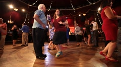 Older People Dancing on Dance Floor Stock Video Stock Footage
