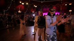 Older People Dancing on Dance Floor Stock Video - stock footage