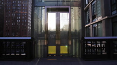 Elevator at the Highline in manhattan New York Stock Video - stock footage
