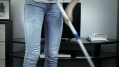 Hard cleaner job Stock Footage