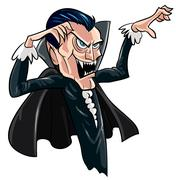 Cartoon threatening vampire Stock Illustration