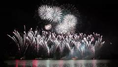 Spectacular Fireworks Finale With Sound. - holiday backgrounds. Stock Footage