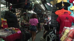 Typical street market scene in Bangkok, Thailand. Stock Footage