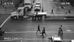 Old Security Camera View of Manhattan New York Street Stock Video - stock footage