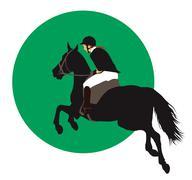 Stock Illustration of Equestrian sports design