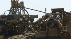 Ross gold mine machinery Stock Footage