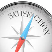 compass satisfaction - stock illustration