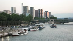 La Seine, Paris Stock Footage