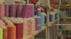 Spool of thread for sewing Stock Footage