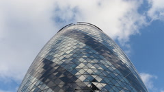 Time-lapse looking up at the Gherkin building, London Stock Footage