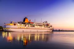 Cruise liner on the harbor Stock Photos