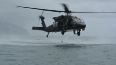 Explosive Ordnance Disposal Technicians Helicopter Insertion RIMPAC 2014 Stock Footage