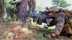 Soldiers attack Vertical Assault MOUT Stock Footage