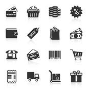 Stock Illustration of Set of shopping icons