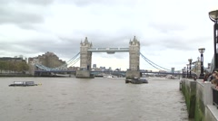 TOWER BRIDGE - LONDON ENGLAND Stock Footage