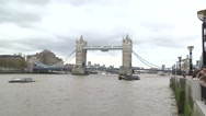 Stock Video Footage of TOWER BRIDGE - LONDON ENGLAND