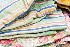 Textiles sale Stock Photos