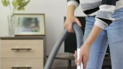 Woman cleaning fast, cleanness  Stock Footage